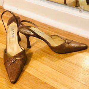 Isaac Mizrahi sling back heels
